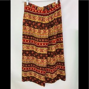 vintage tribal printed wrap skirt